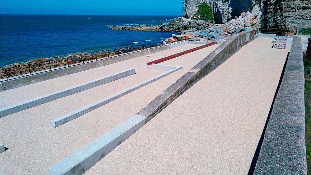 Amenagements bord de mer Saint Jouin de Bruneval (76)
